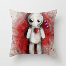 Halloween Theme [Voodoo Doll] Throw Pillow