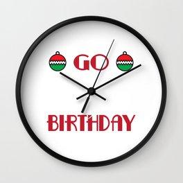 Hilarious & Joyful Xmas Tshirt Design Jesus Birthday Wall Clock