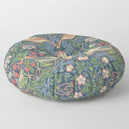 Strawberry Thief - Vintage William Morris Bird Pattern Floor Pillow