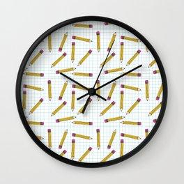 Pencils, Pencils Everywhere! Wall Clock
