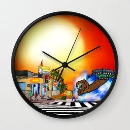 Santa Monica Gate Way Wall Clock