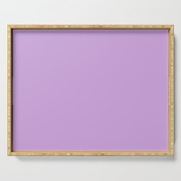 From The Crayon Box – Wisteria Purple - Pastel Purple Solid Color Serving Tray