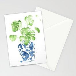 Ginger Jar + Monstera Stationery Cards