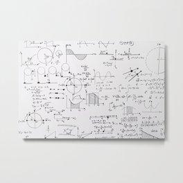 Mathematical equations Metal Print