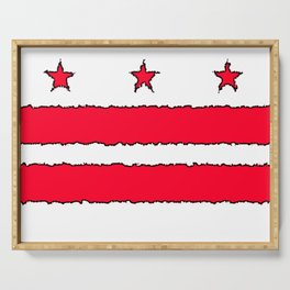 Fancy Flag: Washington, DC    District of Columbia Serving Tray
