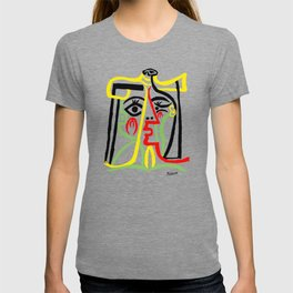 Pablo Picasso, Jacqueline with Straw Hat 1962, Artwork for Posters Prints Tshirts Women Men Kids T-shirt