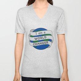 I am a World Changer Unisex V-Neck