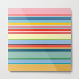 Coloured Stripes Metal Print