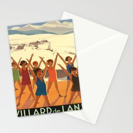 villard de lans   le paradis des enfants. 1930  oude poster Stationery Cards