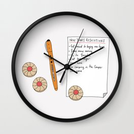 New years resolutions Wall Clock