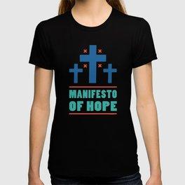 Manifesto of Hope (Blue) T-shirt