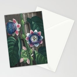 Passion Flowers - The Temple of Flora Botanical Print Stationery Cards