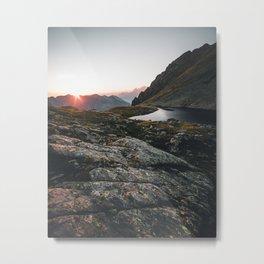 Sunset in the austrian Alps - Greifenberg Mountain Metal Print