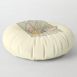 The Feline Phrenology Floor Pillow