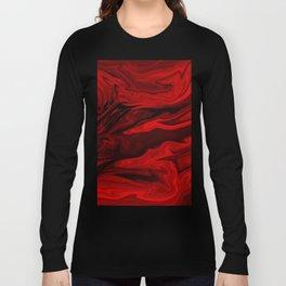 Blood Red Marble Langarmshirt