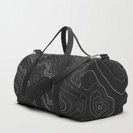 Black & White Topography map Duffle Bag