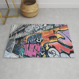 Side Walk Graffiti Street Art Rug