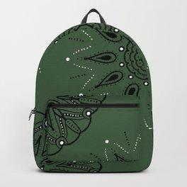 Central Mandala Jade Green Backpack