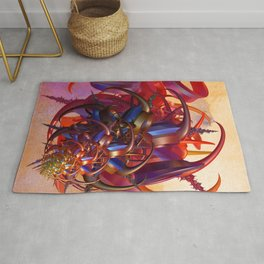 Sci-fi insect Rug