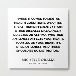 27  | 191112 |  Michelle Obama Quotes Metal Print