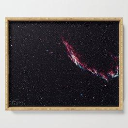 The Eastern Veil Nebula - Landscape Serving Tray