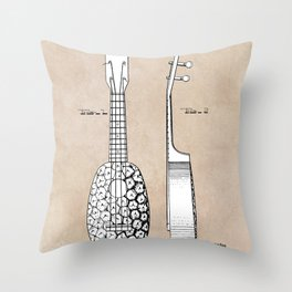 patent art Kamaka Ukulele 1927 Throw Pillow