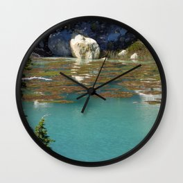 Clear Pond at Lassen Volcanic National Park Wall Clock