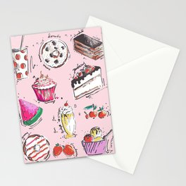 Food Love Stationery Cards