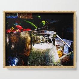 Still-Life Of Milk And Vegetables Serving Tray