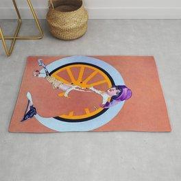 "Coles Phillips 'Fadeaway Girl' Illustration  ""The Wheel"" Rug"