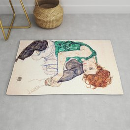 Egon Schiele - Seated Woman with Bent Knee Rug