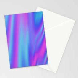 Iridescent Holographic Abstract Colorful Pattern Stationery Cards