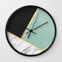 Art with marble V Wall Clock