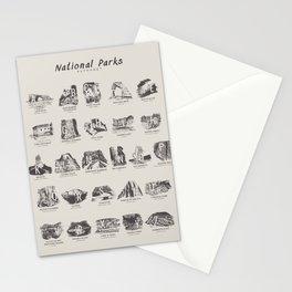 National Parks Alphabet Stationery Cards