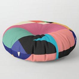 Framed Abstract Wall Art, Modern Art Print, Mid Century Modern Floor Pillow