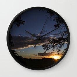 Rural Sunset 3 Wall Clock