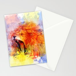 African Lion Pop Art wall Art Stationery Cards