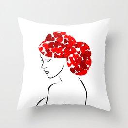 Love in my hair Throw Pillow