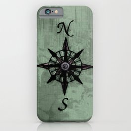 Historic Old Compass Rose iPhone Case