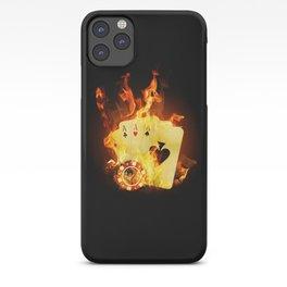 Burning Poker Cards iPhone Case