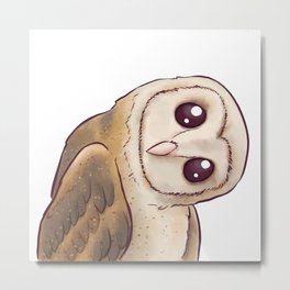 Tilted Owl Metal Print