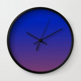 LAPIS BLUE & AMETHYST PURPLE color Ombre pattern  Wall Clock
