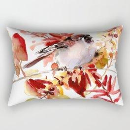 Bird and The Fall Rectangular Pillow