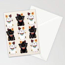 Maneki Neko - Lucky Cats Stationery Cards