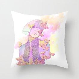 Butterfly Princess Throw Pillow