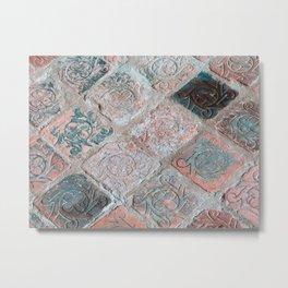 Brick Flooring of Old Mellifont Abbey Metal Print