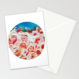 Roses on Fire Stationery Cards