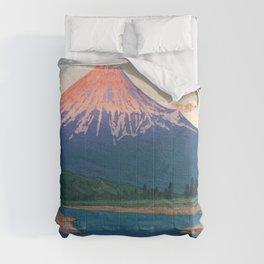 Mt. FUJI FUJIKAWA - Kawase Hasui Comforters