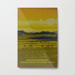 Saskatchewan Travel Poster Metal Print