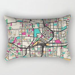 Colorful City Maps: Atlanta, Georgia Rectangular Pillow